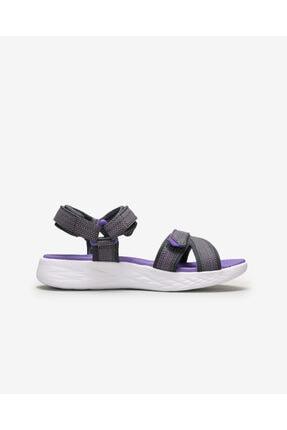 Skechers ON-THE-GO 600- LIL RADIANT Büyük Kız Çocuk Gri Sandalet 1