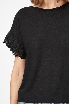Koton Kadın Dantel Detayli T-shirt 0yak13979ok 3