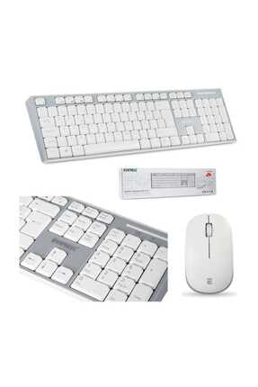 Everest Km-6063 Beyaz/gri Kablosuz Q Multimedia Klavye + Mouse Set 0