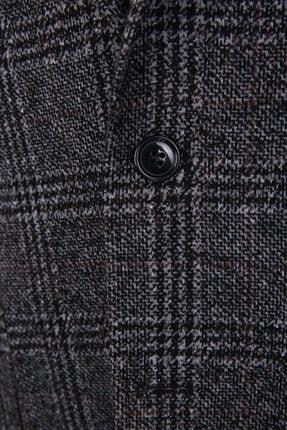 W Collection Gri Siyah Bordo Ekoseli Ceket 2