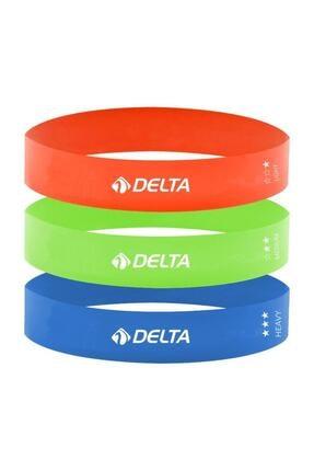 Delta Als980 3'lü Aerobik Bandı Lateks Bant Pilates Lastiği Seti 0