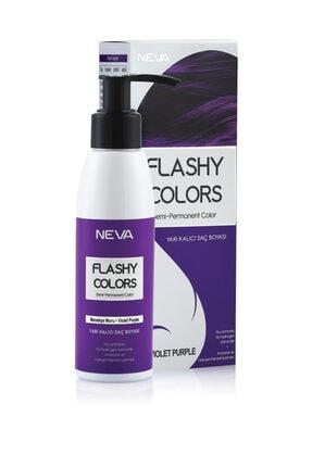Flashy Colors Yarı Kalıcı Saç Boyası - Menekşe Moru 100 ml 0