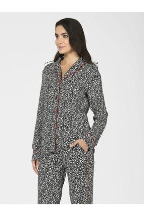 Nbb Önden Düğmeli Kadın Dokuma Pijama Takımı 67030 1