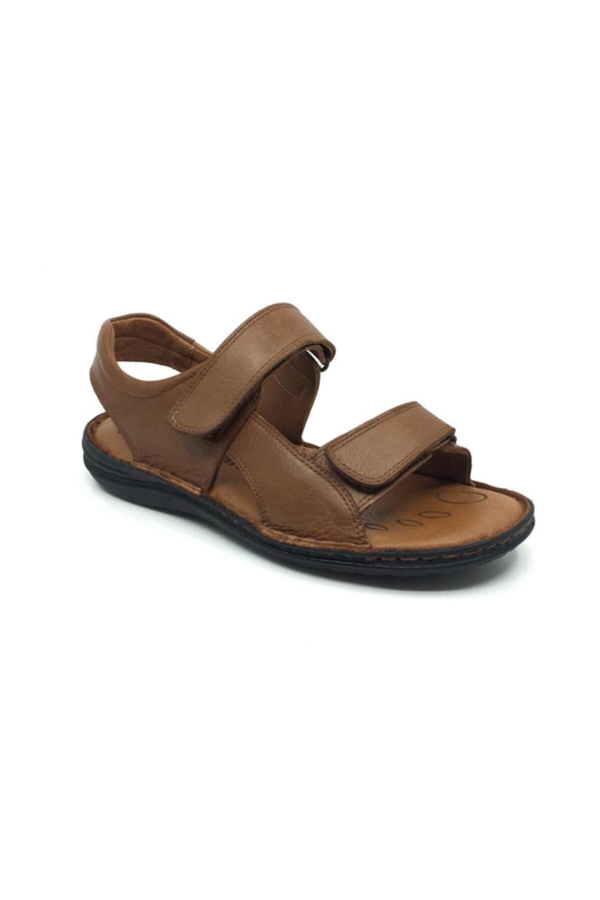 %100 Deri Ortopedik Erkek Terlik-sandalet