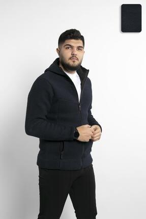 Fabregas Lacivert - Zırh Örgülü Fermuarlı Sweatshirt 0