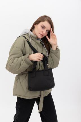 Shule Bags Kumaş Kadın Çapraz Çanta Taglıa Siyah 1