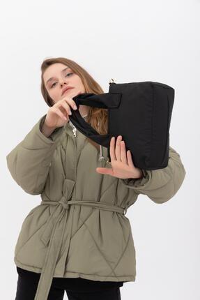 Shule Bags Kumaş Kadın Çapraz Çanta Taglıa Siyah 2