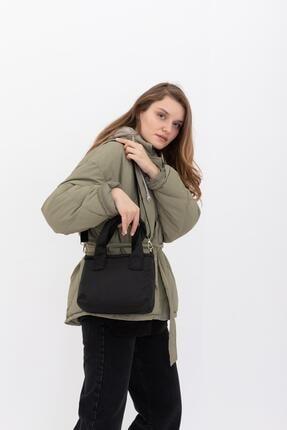 Shule Bags Kumaş Kadın Çapraz Çanta Taglıa Siyah 4