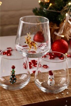 mozaikturk Yılbaşı Özel 6'lı Su Bardağı Seti 4