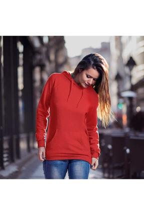 Fandomya Yılbaşı Virus 2021 Kırmızı Kapşonlu Hoodie Sweatshirt 1