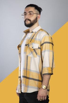 pawq Sarı Beyaz Kareli Oduncu Gömleği 0