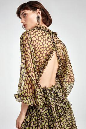 Nocturne Fırfır Şeritli Desenli Mini Elbise 1