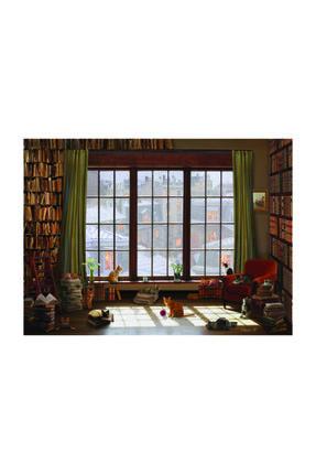 Anatolian Puzzle Pencere Kedileri 1000 Parça Puzzle 0