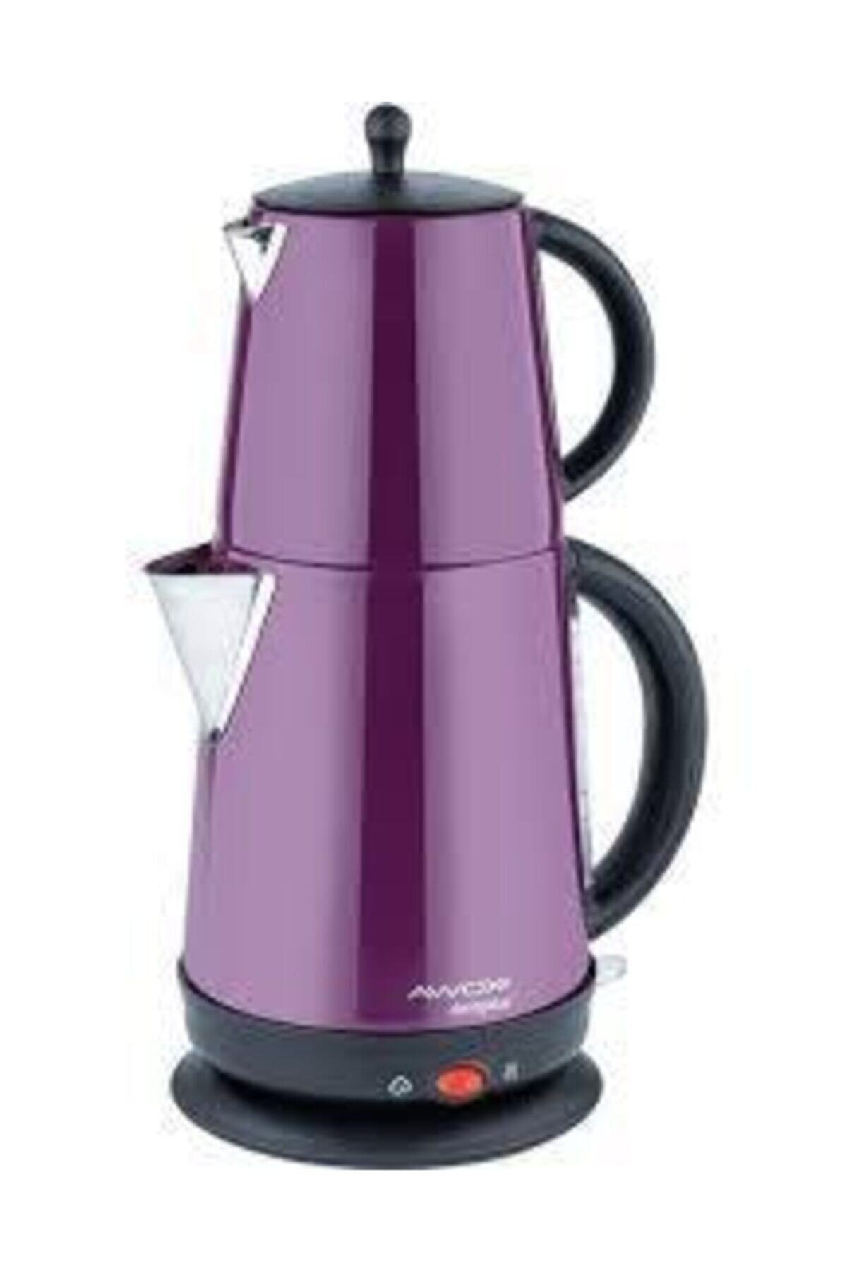Demplus Çelik Çaycı Çay Makinesi-lila