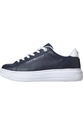 Tommy Hilfiger Kadın Mavi Sneaker Deri Tommy Hılfıger Cupsole FW0FW05009 0