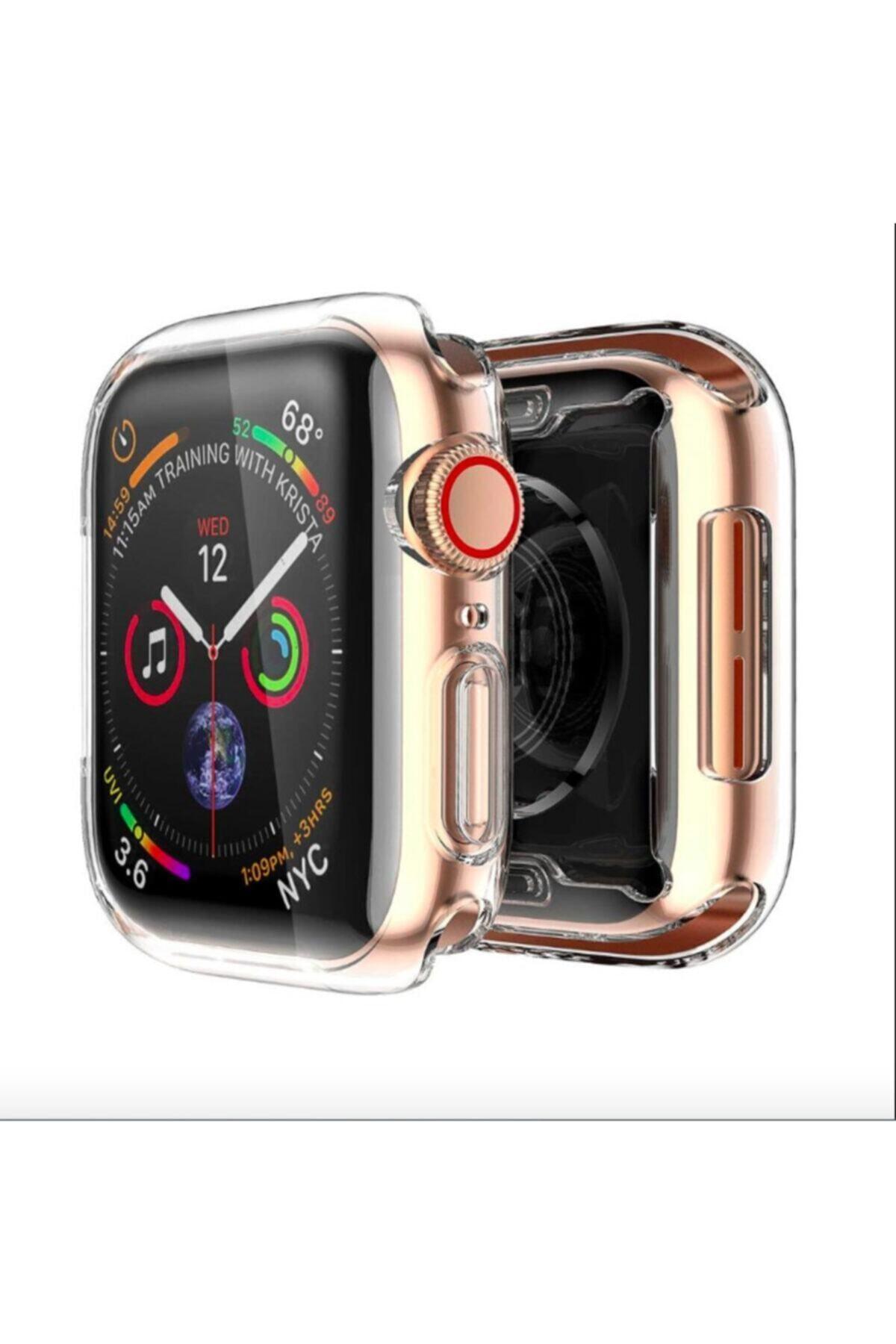 Apple Watch 1 2 3 Uyumlu Şeffaf Silikon Kılıf 38mm Tam Koruma