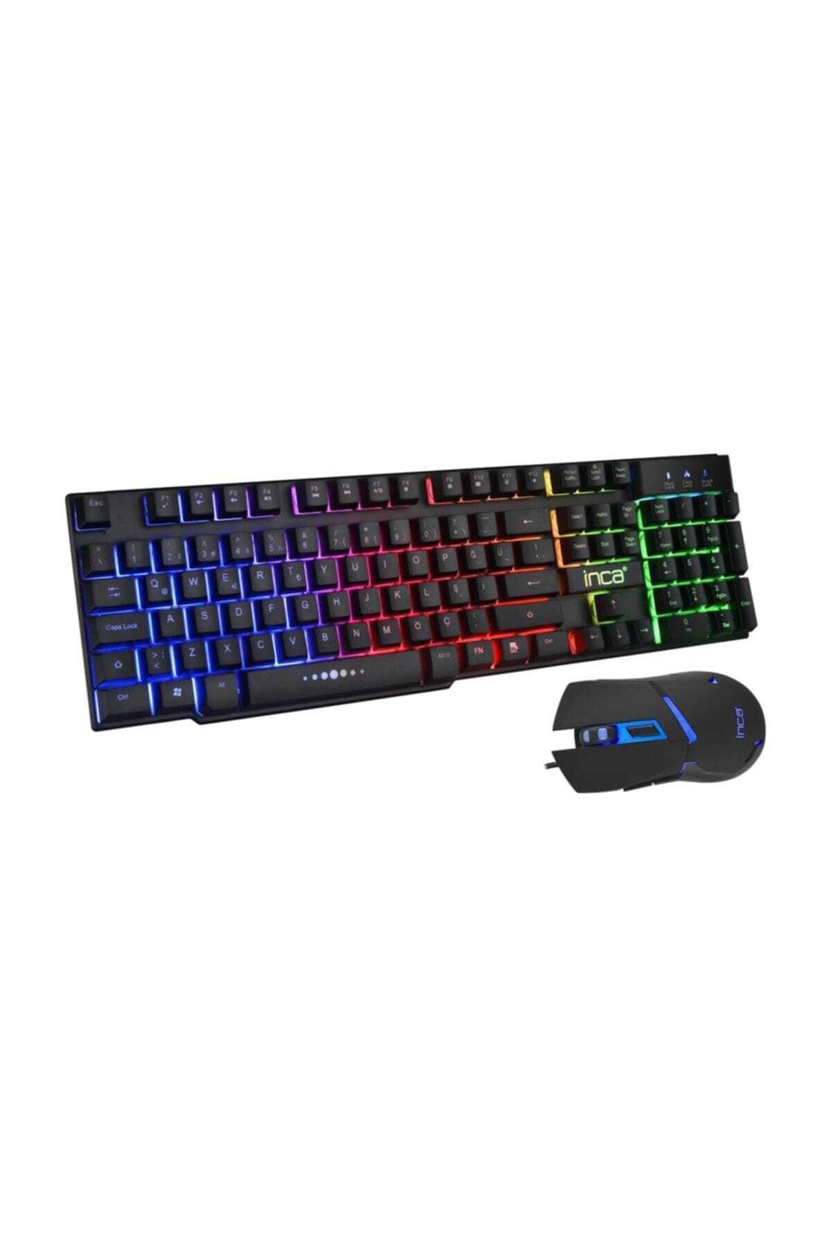 Ikg-448 Gökkuşağı Efect Mekanik Hisli Gaming Klavye ve Mouse Set