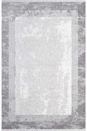 Pierre Cardin Halı Monet Mt39a Gri Beyaz Çerçeveli Doğal Iplik Halı 0