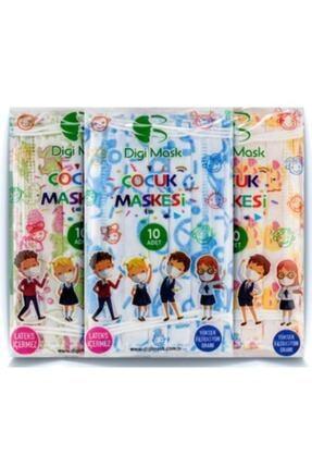 Digi Mask 7 Tepe Store Yüksek Koruma Desenli Çocuk Maskesi - 50 Adet 0