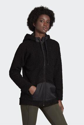 adidas Kadın Siyah Günlük Kapüşonlu Eşofman Üstü W Bb Hd Tt Gd3825 3