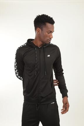New Balance Erkek Siyah Kapüşonlu Sweatshirt Mpj007-bk 0