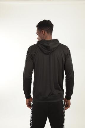New Balance Erkek Siyah Kapüşonlu Sweatshirt Mpj007-bk 2