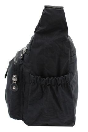 Bevitton Xx-71 4120 Siyah Paraşüt Krinkıl Hafif Kumaş 8 Bölmeli Kadın Çapraz Postacı Çantası Bvt41-20 Siyah 2