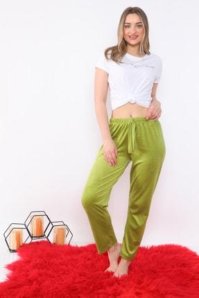 Arvin Kadın Kadife F. Yeşil Pijama Altı 2