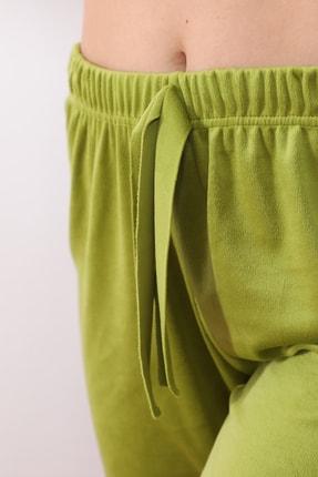 Arvin Kadın Kadife F. Yeşil Pijama Altı 4