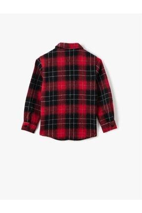 Koton Erkek Çocuk Kırmızı Klasik Yaka Ekoseli Uzun Kollu Gömlek 1