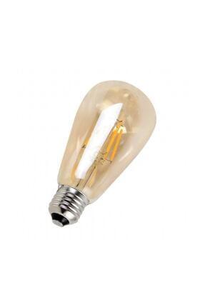 Floresan Ampuller Rustik Edison Led Ampül E27 Duy Armut Tipi St64 Model 4w Amber Rengi 2