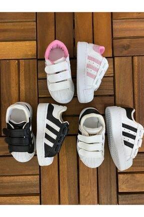 MOMSTAR Şeritli Çocuk Spor Ayakkabı Beyaz 1