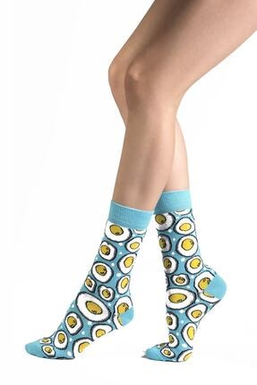 Ozzy Socks 6' Lı Organik Pamuklu Dikişsiz Kadın Asorti Çok Renkli Desenli Çorap 4