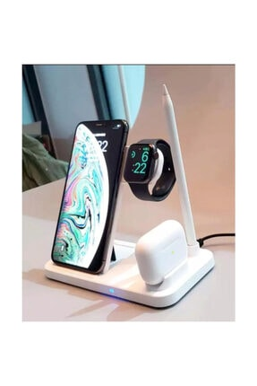 MARSTEC 4 In 1 Kablosuz Hızlı Şarj Istasyonu Standı Iphone Samsung 0