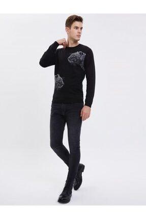 Loft Siyah Slim Fit Erkek Kazak 1