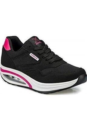 Kinetix Aneta Tx W Siyah Kadın Kalın Taban Sneaker Spor Ayakkabı 0