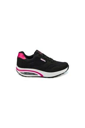 Kinetix Aneta Tx W Siyah Kadın Kalın Taban Sneaker Spor Ayakkabı 1