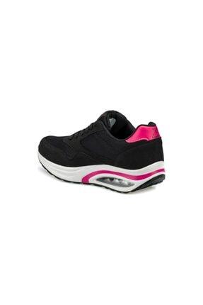Kinetix Aneta Tx W Siyah Kadın Kalın Taban Sneaker Spor Ayakkabı 2