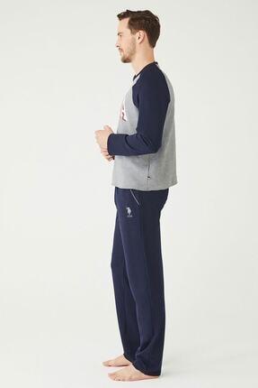 US Polo Assn Erkek Antrasit Melanj Ev Giyim 1
