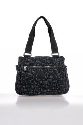 Smart Bags Smbky1125-0091 Puanlı Siyah Kadın Omuz Çantası 0