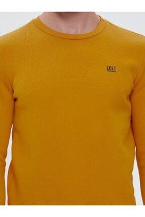 Loft Safran Sarı Slim Fit Erkek Sweatshirt 2