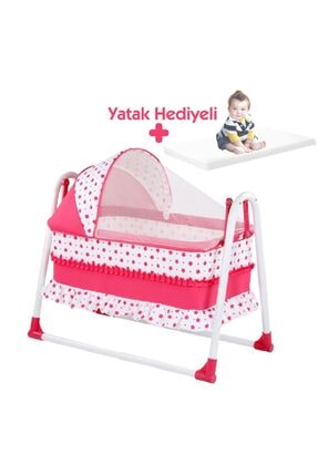 bebegen Elit Portatif Sallanır Bebek Beşik Fuşya 0
