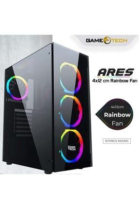 GAMETECH Ares Rainbow 4x120mm Fan Gaming Oyuncu Kasası 0