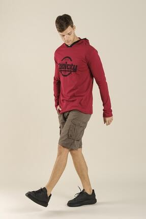 Oksit Coll City Donald Slim Fit Mevsimlik Kapüşonlu Sweatshirt 3