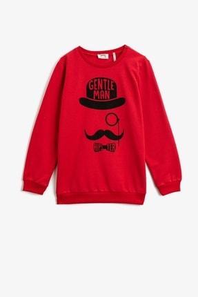 Koton Erkek Çocuk Baskılı Kırmızı Sweatshirt 1kkb16503tk 0