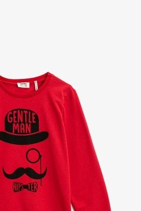 Koton Erkek Çocuk Baskılı Kırmızı Sweatshirt 1kkb16503tk 2