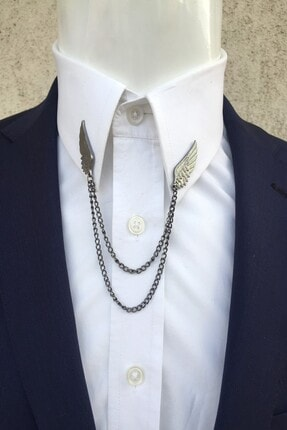 Kravatistan Kanat Gömlek Yaka Iğnesi Silver 0