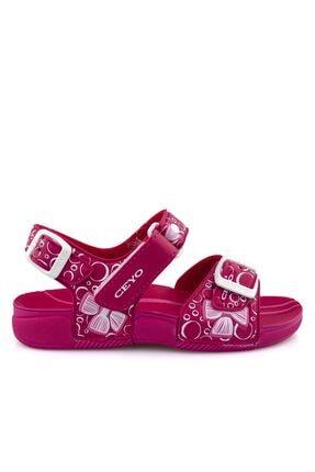 Ceyo Fuşya E Ortopedik Kız Çocuk Sandalet 0