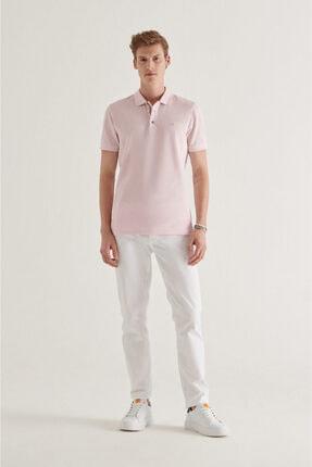 Avva Erkek Açık Pembe Polo Yaka Düz T-shirt A11b1174 3
