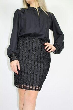 Kadın Siyah Etek Gömlek Takım 875651
